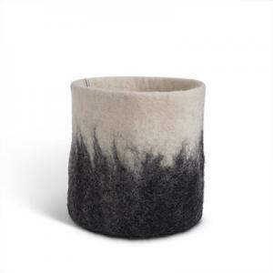 Aveva Design - 19cm Woolen Plants Pot Holder - wool   rust - Rust/Mustard/Grey