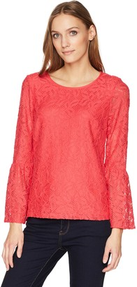 Calvin Klein Women's Bell Sleeve LACE TOP