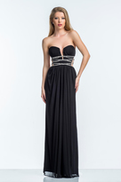 Terani Couture 151P0043A Grecian Style Plunging Illusion Gown