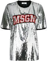 MSGM sequin embellished T-shirt