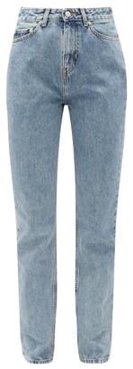 Ganni Washed-denim Boyfriend Jeans - Womens - Light Denim