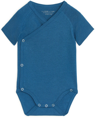 Arket Cotton Lyocell Wrap-Over Bodysuit