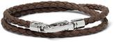 Tod's Woven Leather Wrap Bracelet