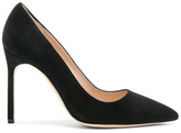 Manolo Blahnik BB 105 Suede Pumps in Black.