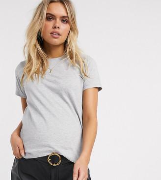 ASOS DESIGN Maternity ultimate organic cotton crew neck t-shirt in gray marl