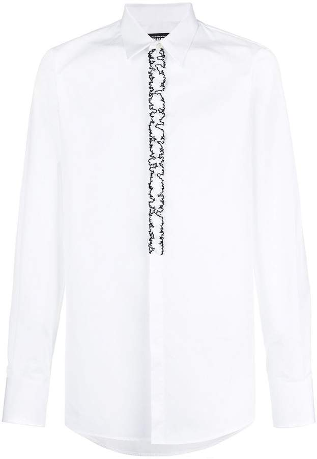 DSQUARED2 frill-embroidered shirt