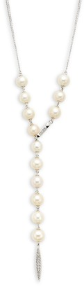 Adriana Orsini Silvertone, Crystal 5-7MM Pearl Necklace