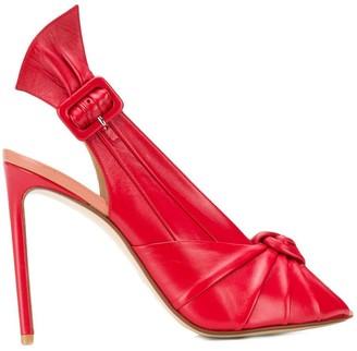 Francesco Russo slingback stiletto sandals