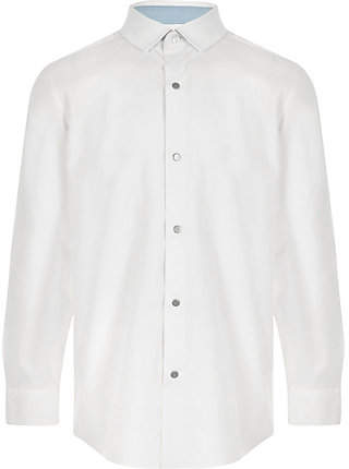 River Island Boys white long sleeve shirt