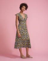 Cynthia Rowley Floral Lace Midi V-Neck Dress