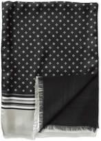 Black Geometric Silk Scarf Size Osfa By Charles Tyrwhitt