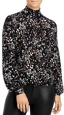 C by Bloomingdale's Floral Print Cashmere Sweater - 100% Exclusive
