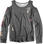 Epic Threads Hero Kids by Sequin-Embellished Cold-Shoulder Sweatshirt, Big Girls (7-16), Created for Macy's