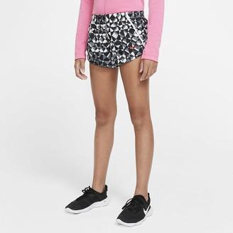 Nike Big Kids' (Girls') Printed Training Shorts Dri-FIT