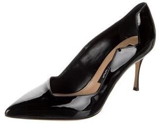 Sergio Rossi Patent Leather Pumps Black