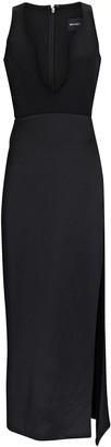 Brandon Maxwell Sleeveless Crepe Midi Dress