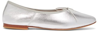 Mansur Gavriel Dream Ballerina Almond-toe Leather Ballet Flats - Silver