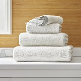 Crate & Barrel Rowan Grey Bath Towels