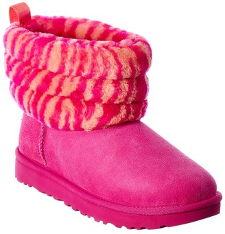 UGG Fluff Suede Mini Quilted Bootie