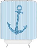 DENY Designs Matt Leyen Anchors Awaves Shower Curtain, 69-Inch by 72-Inch