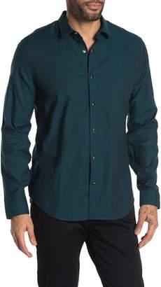 John Varvatos Karl Solid Snap Button Sport Shirt