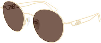 Balenciaga Round Metal Sunglasses