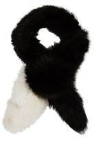 Marni Women's Fox Fur Stole-BLACK