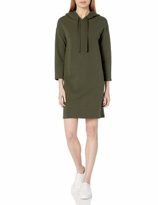 Daily Ritual Amazon Brand Women's Terry Cotton and Modal Sweatshirt Dress
