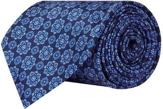Stefano Ricci Silk Flower Mosaic Print Tie
