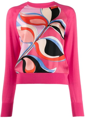 Emilio Pucci Abstract Print Panel Jumper