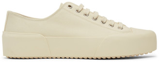 Jil Sander Off-White Canvas Sneakers