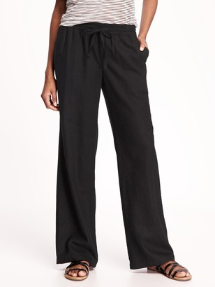 Old Navy Mid-Rise Linen-Blend Pants for Women