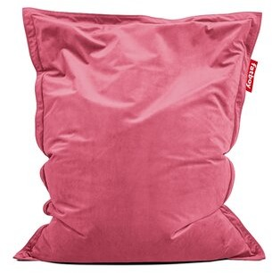 Fatboy Large Velvet Bean Bag Chair & Lounger Fabric: Deep Blush