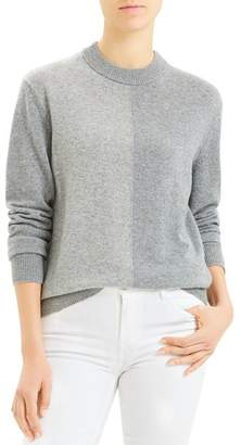 Theory Colorblocked Crewneck Cashmere Sweater