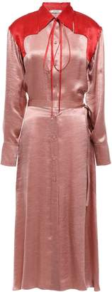 Nina Ricci Two-tone Crinkled-satin Midi Shirt Dress