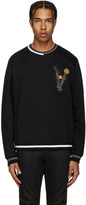 Versace Black Embroidered Belt Pullover