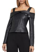 BCBGMAXAZRIA Clyde Knit Faux Leather Jacket