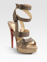 Toutenkaboucle Strappy Canvas Sandals
