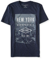 Aeropostale Mens New York Aropostale Graphic T Shirt Blue