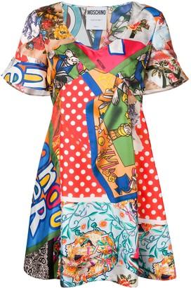 Moschino Mixed-Print Dress
