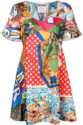 Moschino mixed-print dress