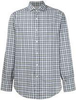 Brunello Cucinelli cutaway collar checked shirt