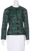 Dries Van Noten Jacquard Peplum Top