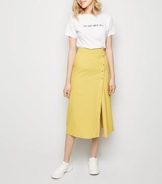 New Look Grid Check Midi Skirt