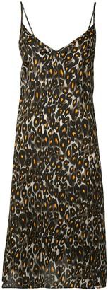 R 13 Leopard-Print Slip Dress