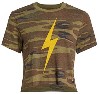 Aviator Nation Camo Print Bolt T-Shirt