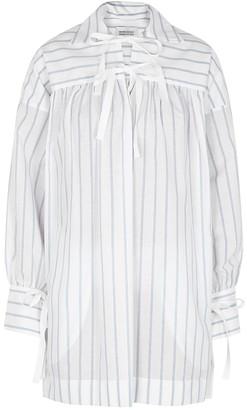 Mark Kenly Domino Tan Dannyn striped cotton-blend shirt dress