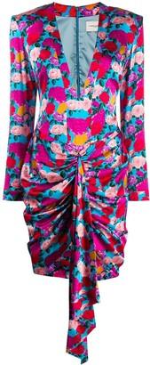 Giuseppe di Morabito Rose Print Mini Dress