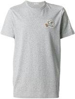 Moncler double logo plaque T-shirt - men - Cotton - M