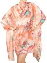 Smartstar Trendy Cute Preety Girl Flower Pattern Soft Long Wrap Shawl Silk Scarves